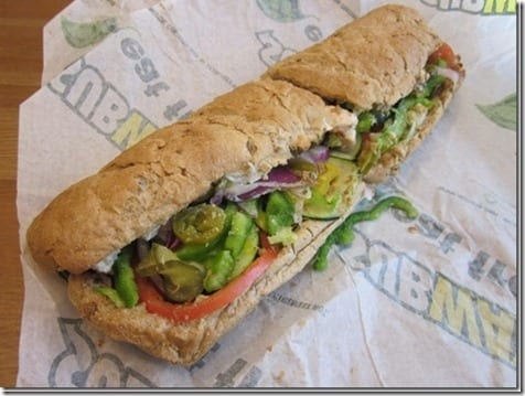 subway sandwich thumb Pile On the Miles Week One Winners