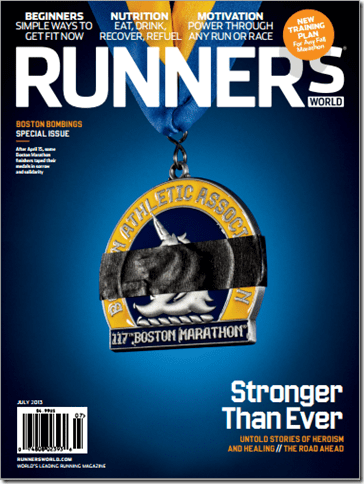 image thumb37 Five Fun Friday Fings–Runners World Boston Marathon Cover