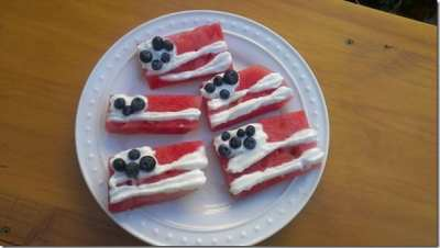 watermelon flags recipe for fourth of july 800x450 thumb How to Make Watermelon Flags