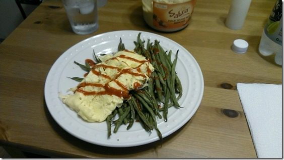dinner with eggs and green beans 800x450 thumb Friday Food and Feet on the Street