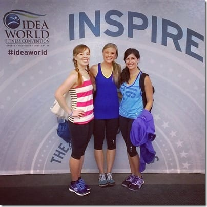runeatrepeat pb fingers and fitnessista bloggers at idea fit 800x800 thumb Thursday at IDEA Fit Conference