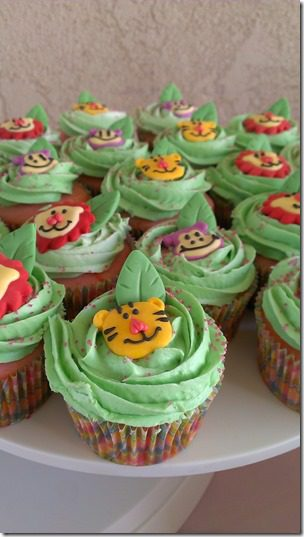 animal cupcakes baby shower thumb Animal Baby Shower