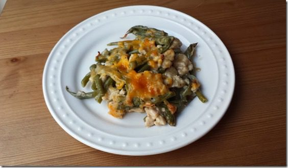 green bean turkey casserole thumb Turkey and Green Bean Casserole Recipe