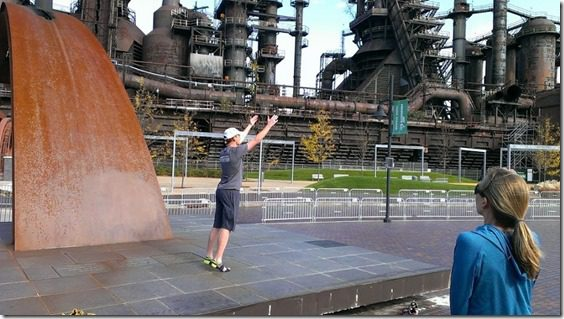 running form clinic at steel stacks 800x450 thumb Running with Bart Yasso and Meeting Summer Sanders