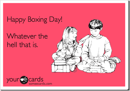 boxing day thumb My Christmas Day 2013