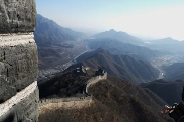 Walking on the Great Wall of China