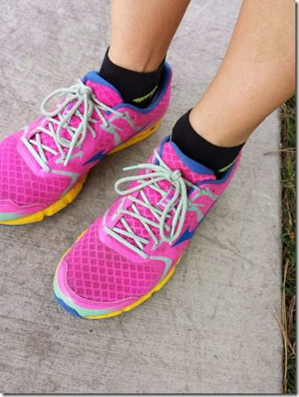 running in pink shoes 376x502 thumb Running Shoes Giveaway From ProCompression