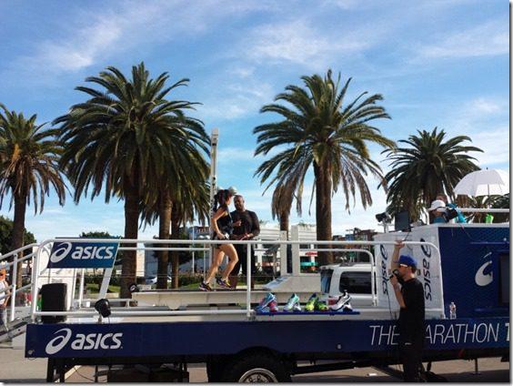 treadmill goes as fast as la marathon record 800x600 thumb LA Marathon Outtakes and Asics Giveaway Winners