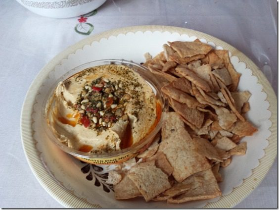 hummus and pita chips 800x600 thumb Mother's Day at My Mom's