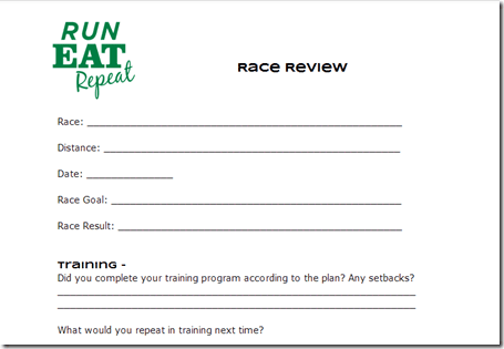 image11 Race Review Form–How to assess your performance at a race and learn from it.