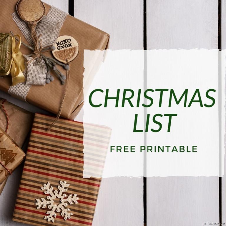 Want Need Wear Read Christmas Wish List\u2013Free Printable Minimal List
