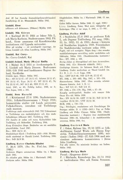 357 (Svenskt författarlexikon / 2. 1941-1950)