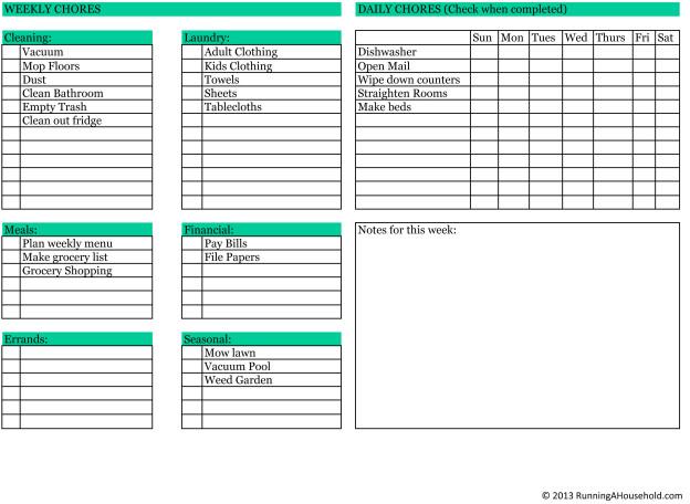 weekly checklist hitecauto - weekly checklist