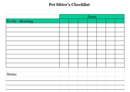 pet sitter checklist - Josemulinohouse