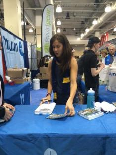 at the nuun booth. Juan pointed out her nice ring... He notices rings now...!