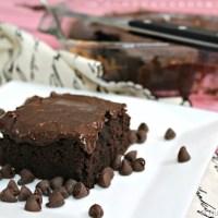 Black Bean Brownies with Homemade Fudge Icing