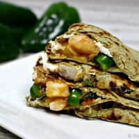 Goat Cheese & Shrimp Quesadilla