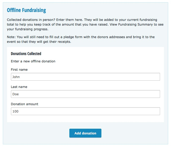 How can I keep track of offline donations? \u2013 Running Room Support