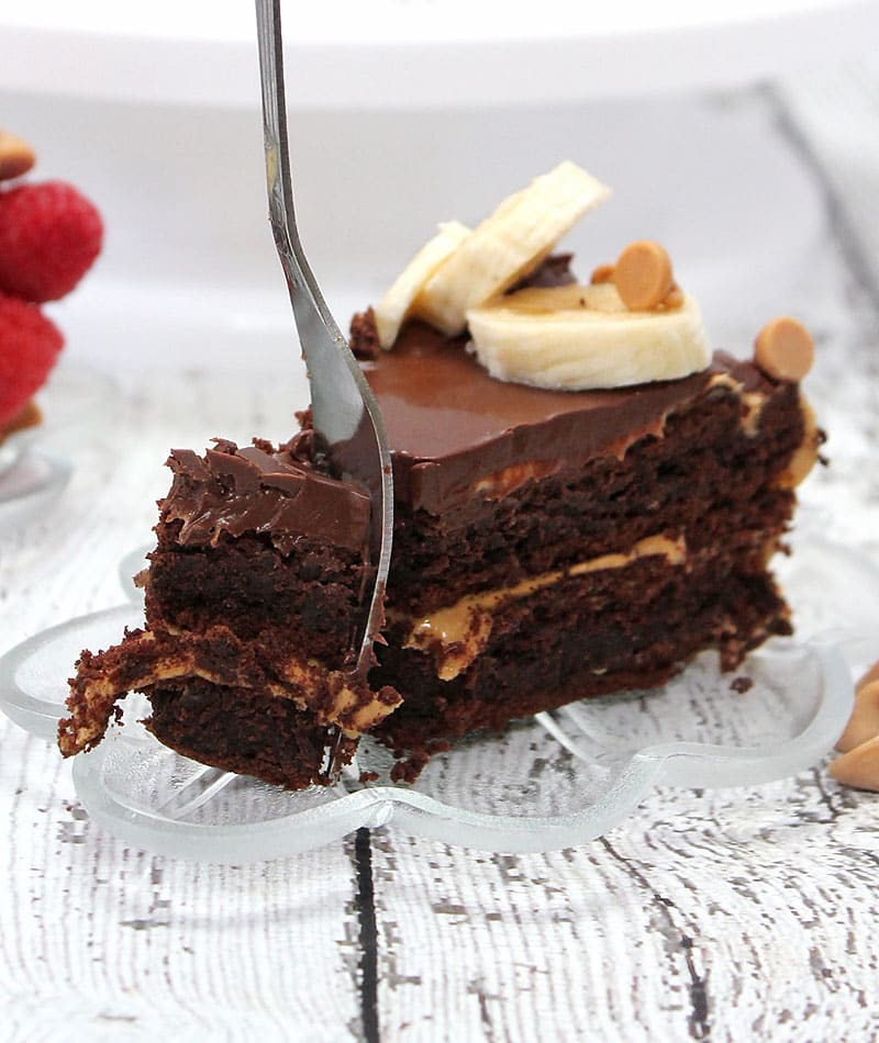 Flourless Peanut-Butter & Chocolate Cake
