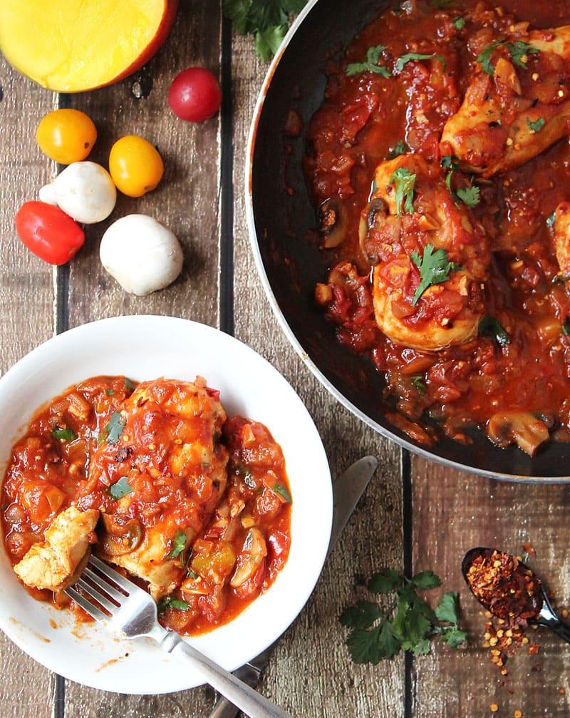 Quick-And-Easy-Mango-Mushroom-Chicken-@RunninSrilankan