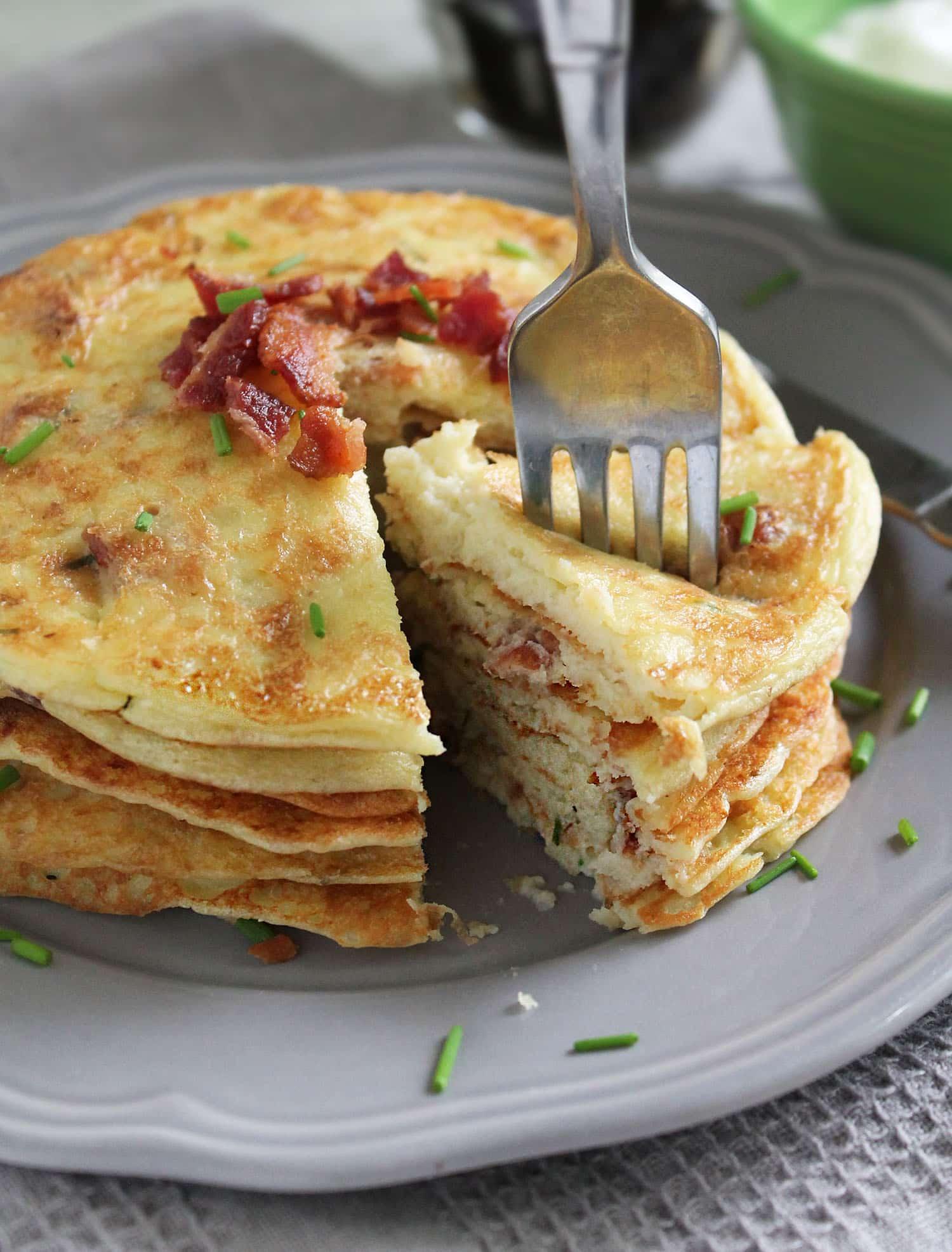 Flourless Bacon Potato Pancakes