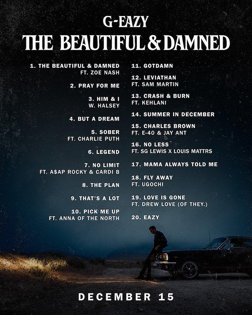 Halsey Wallpaper Quotes Stream Download G Eazy S New Album The Beautiful Amp Damned