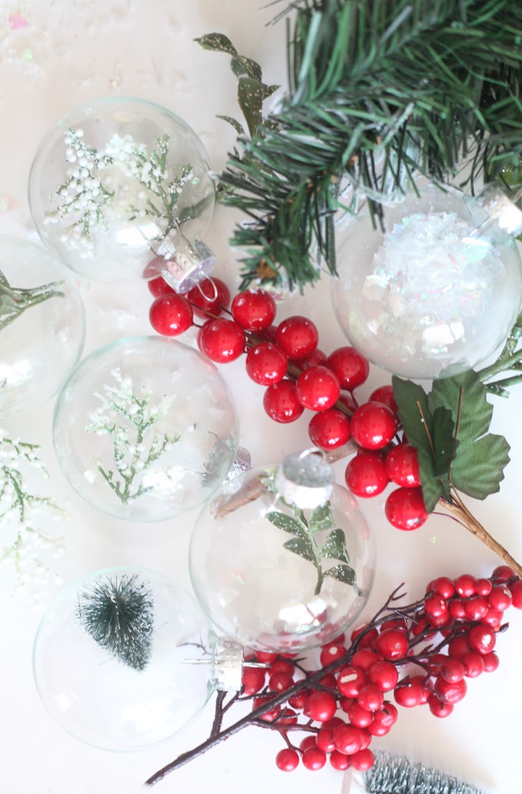Diy Christmas Ornaments Easy Diy Christmas Tree Ornaments To Make With Clear Ornaments