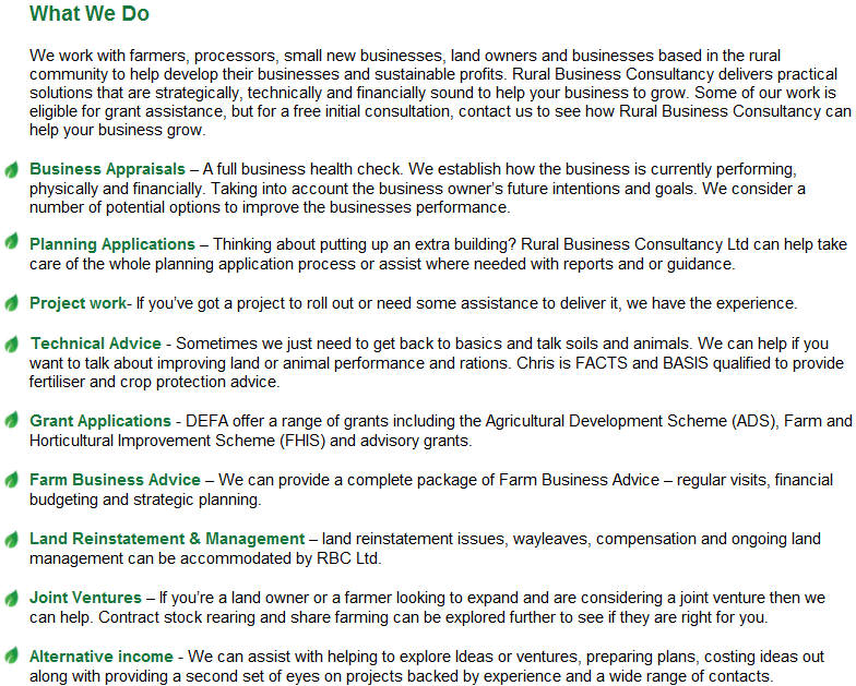Services Rural Business Consultancy