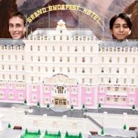 The Grand Budpest Hotel, built with 50,000 Lego blocks