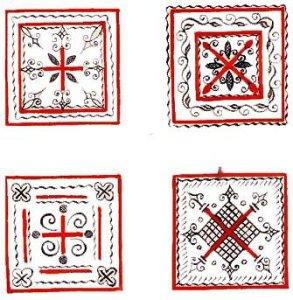 мезенская роспись знаки плодородия