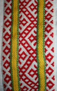 Задняя проставка рукава.  Набор.  Тесьма - плетение на бердышке.
