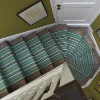 Green Striped Carpet Runner - Carpet Vidalondon