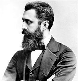 <figcaption>Founder of Zionism Theodore Herzl</figcaption>