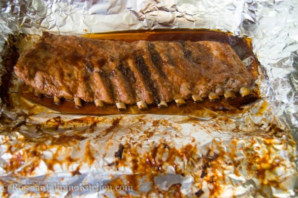 Oven Baked Pork Spare Ribs With BBQ Sauce