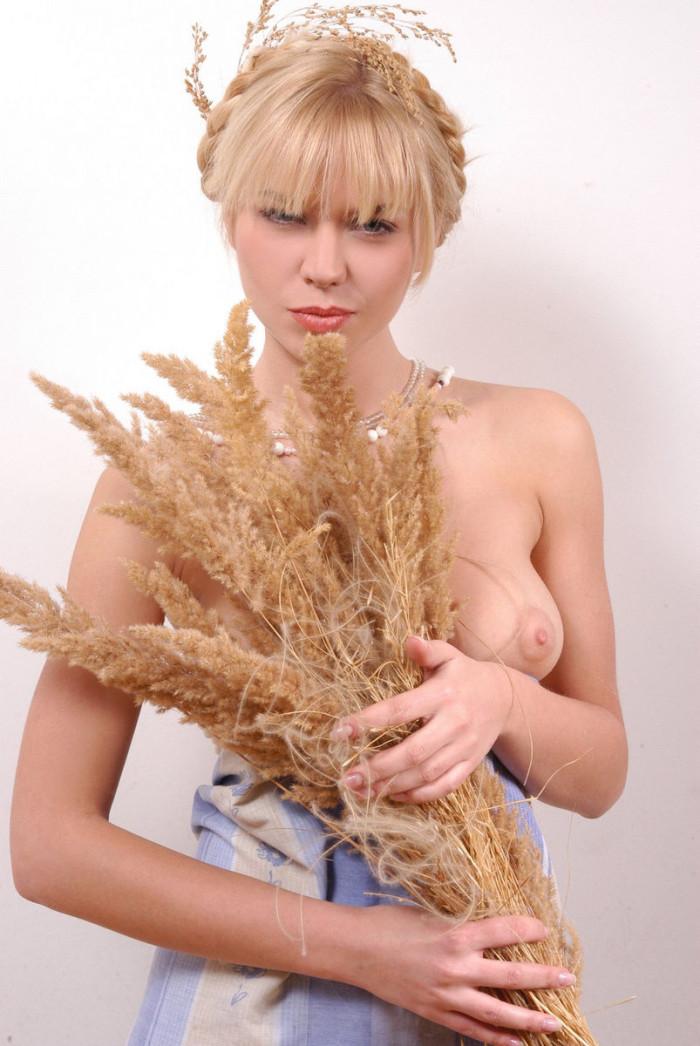 Blond bikini russian