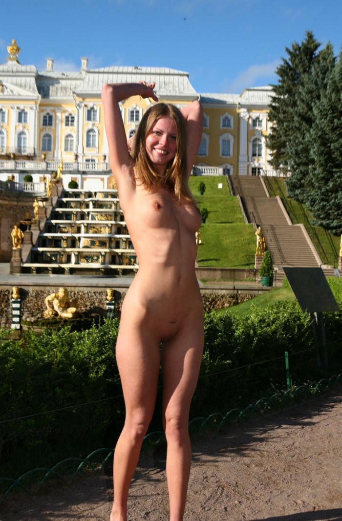 I was dared to walk down the street nude makes