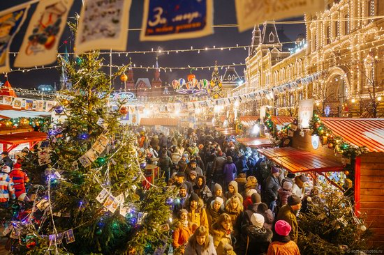 Adventure Travel Blog The Center Of Moscow Decorated For New Year Holidays