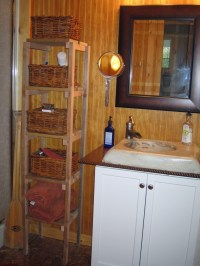 Homemade And Inexpensive Rustic Cabin Bathroom Decor ...