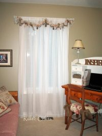 How To Make A Rag Swag Window Treatment - Rustic Crafts ...
