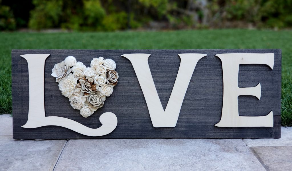 Love Says It All Rustic Sign Rustic Elegance