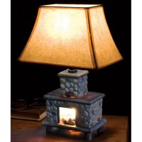 Hand Painted Ceramic Fireplace Table Lamp | rustic-touch ...