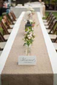 AK TRADING 12″ x 108″ Natural Burlap Table Runner. Made with Fine Premium Quality 12Oz Burlap
