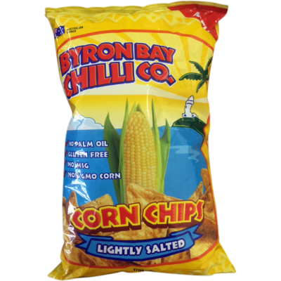 Byron Bay Chilli Co Corn Chips Lightly Salted