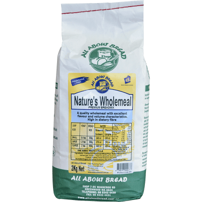 All About Bread Nature's Wholemeal Breadmix 2kg