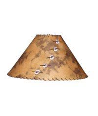 Rust and Brown Lamp Shade - Rustic Artistry