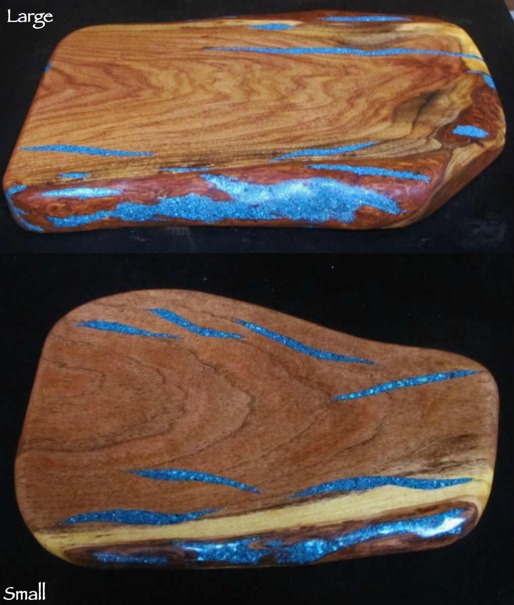 Small Marble Cutting Board Turquoise Inlay Cutting Board Free Form