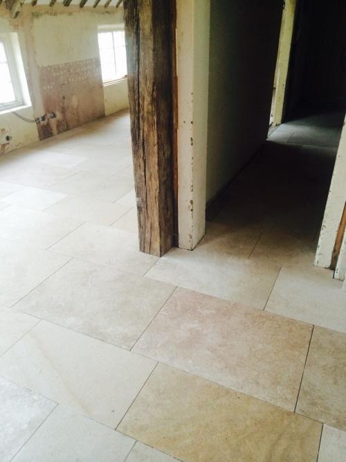 Marble Floor Installation : Stone floor installation by rustica tiles