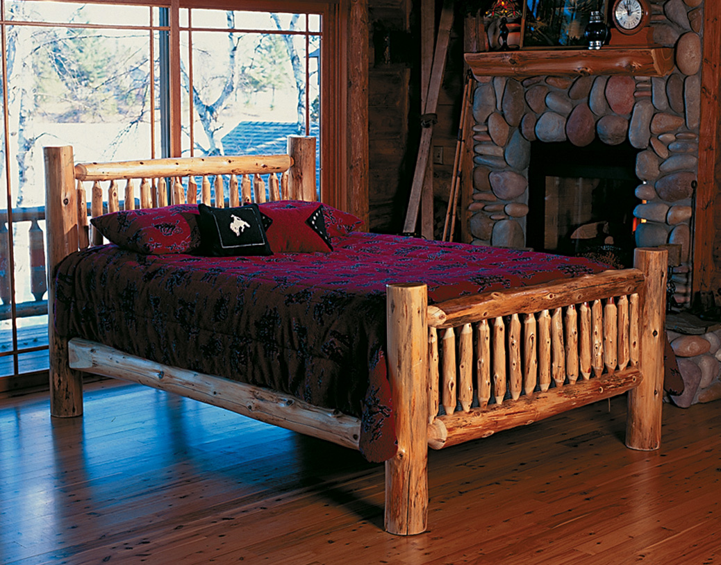 Discount Cabinets Cedar Log Bed Kits - Headboard Only | Rustic Furniture