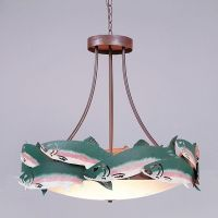 Avalanche Ranch Lighting Medium Crestline Foyer Chandelier ...