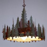 Avalanche Ranch Lighting Sheridan Round Chandelier Series ...